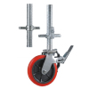Pu scaffold caster wheels with hollow screw stem