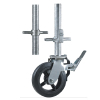 Rubber scaffold caster wheels