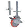 Scaffold caster wheels with screw stem