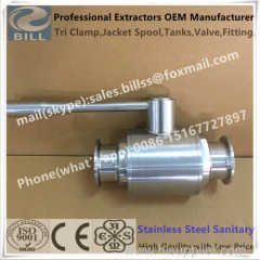 Stainless Steel Sanitary SS304 Tri Clamp Ball Valve with SS Handle