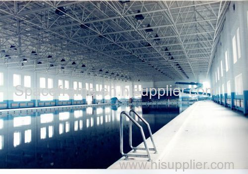 Steel structure roof system space frame swimming pool cover