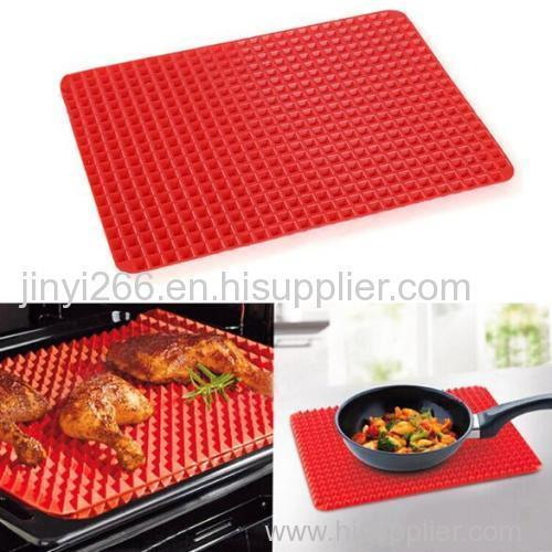 New product silicone red pyramid shaped silicone baking mat on sale