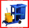 4 wheels restaurant plastic cleaning cart