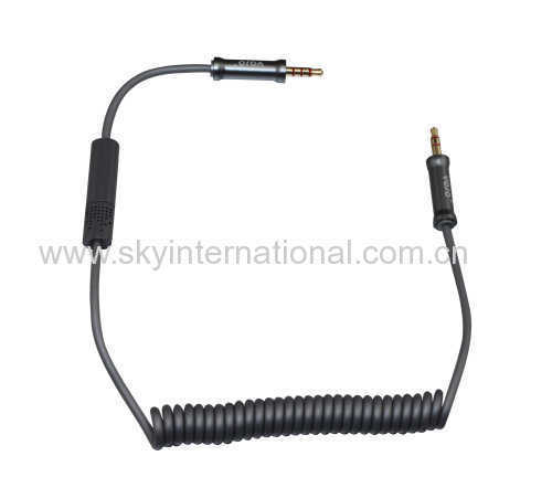 professional vehicle audio cable with microphone track up and down for iPod