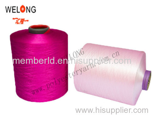 100% dyed polyester yarn DTY for knitting fabric