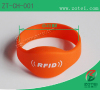 RFID two chips Soft PVC wristband tag
