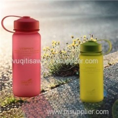 550ml Custom Logo Double Wall Glass Water Bottle With Gilter