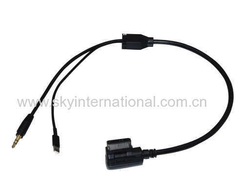 AUX media Interface Cable for Mercedes Benz Charging for iPod iPhone 50CM