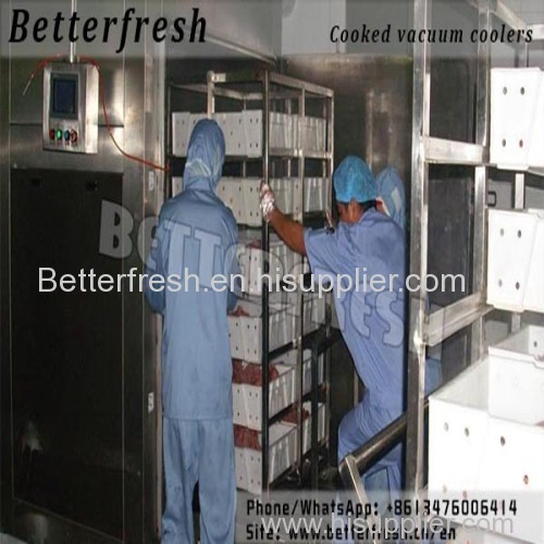 Betterfresh ready food rice snack Vacuum cooler/tube/chiller/cooling machine