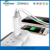 SHENZHEN 2017new fashion 2 USB ports EU Plug wiht smart IC travel charger