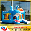 Customized jumper kids inflatable bouncy castle with slide for sale