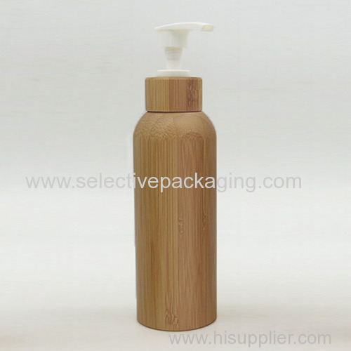 150ml bamboo plastic body lotion bottle
