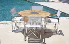 HaoMei outdoor furniture table and chair teak set