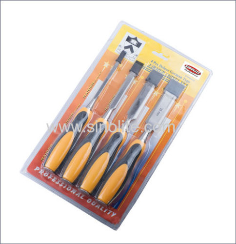 4pcs Deluxe German Type Firmer Chisel Set Size: 6-13-19-25mm