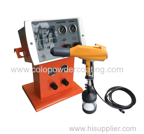 powder spray gun for laboratory testing