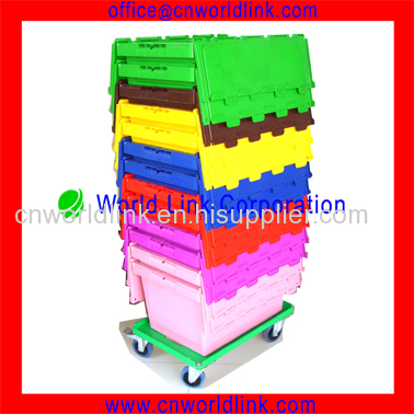 4 Wheels Heavy Duty Plastic Dolly Moving Plastic Pallet Dolly Cart