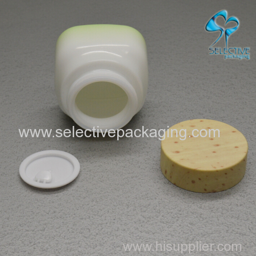 50g opal glass cream jar with bamboo screw lid