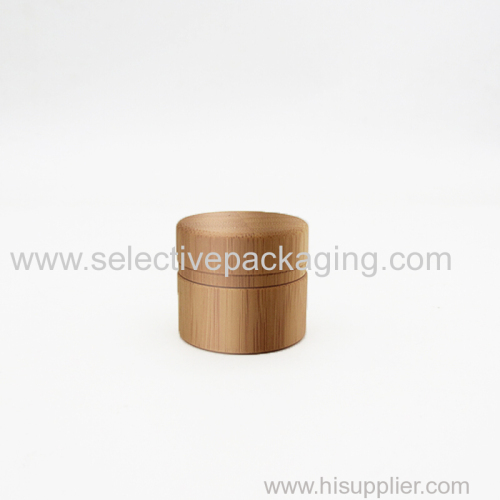 5g bamboo glass cream jar