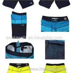 High Quality 4 Ways Strech Board Shorts Sublimtion Mens Swim Trunks Cool Beach Shorts For Men