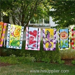 Hot Sale Outdoor Hanging Decorative Festival Personalized Garden Flag