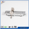 Network cabinet swiveling handle lock