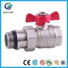 BRASS PIPE UNION BALL VALVE WITH NBR GASKET