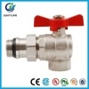 BRASS ANGLE BALL VALVE WITH BUTTERFLY HANDLE