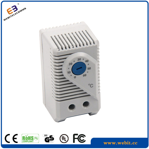 Temperature controller for network cabinet