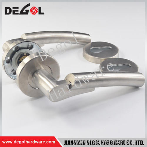 China manufacturer stainless steel solid type room hardware door handle