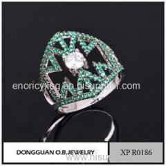 Wholesale Silver Turkish Silver Jewelry Green Spinel Stone Jewelry Supply