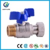 Brass Water Meter Ball Valve with Female and Free Nut