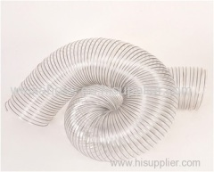 PVC transparent ventilation pipe