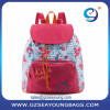 Fashion trend women/lady university backpack nice color matching fabric lady soft backpack