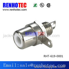 Nickel Plated RCA Jack Terminal Female HIFI Audio Connector