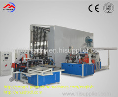 Chian most advanced fully automatic lower waste paper rate conical paper tube production line