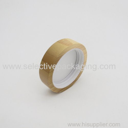 Bamboo cap for cream jar