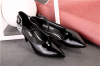 Ankle strap pointy toe foldable heel women shoes