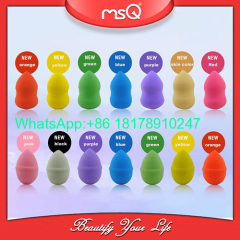 MSQ Brand High Quality Professional Soft Sponge Rose Red Makeup Puff For Foundation Fashion Beauty