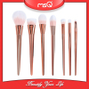 MSQ Brand New Arrival 7pcs Makeup Brushes Set Synthetic Hair Cosmetic Foundation Brush Kits