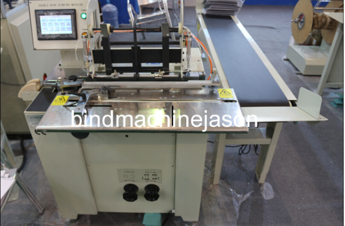 Calendar and notebook double wire bind machine with hanger part
