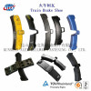 brake pad; brake block; brake shoe; composite brake shoe; railway composite brake shoe; locomotive brake shoe; brake sys
