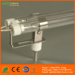 clear tube medium wave IR emitter for leather embossing machine
