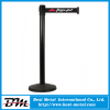 Black powder coating crowd control barrier
