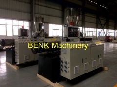 Conical double screw extruder for PVC Glazed roof tile extrusion line