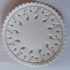 disposable hollow paper coaster round shape