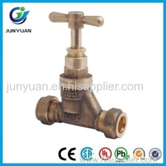 PEX-UK Brass Copression Stop Valve