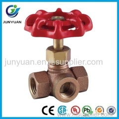 Bronze Three-Way Stop Valve