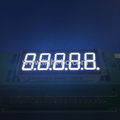 Ultra White 0.36 inch 5 digits 7 segment led display for Digital indicator