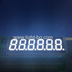 "Ultra bright white 0.36"" 6 digit 7 segment led display for digital indicator"