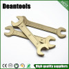 Non Sparking Wrench Spanner Doule Open Ring By Copper Beryllium Free Sample Sparkless Wrench set